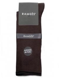 Calcetín Ramsés Algodón sin puño marrón