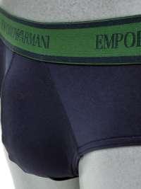 Slip Emporio Armani en microfibra azul