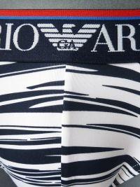 Slip Emporio Armani Microfibra en blanco a rayas