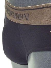 Slip Emporio Armani Algodón en negro y cobre