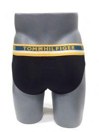 Slip Tommy Hilfiger Algodón goma ancha en negro