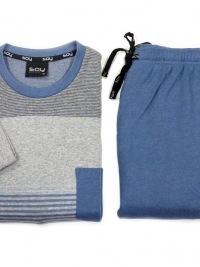 Pijama Soy Underwear de Franela en Gris