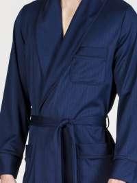 Bata Soy Underwear Clásica Azul mil rayas