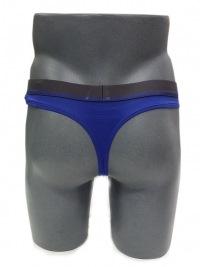 Tanga Armani Microfibra Azul