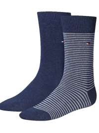 2 Pack Calcetines Tommy rayas azul jeans