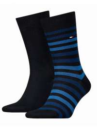2 Pack Calcetines Tommy a rayas marino