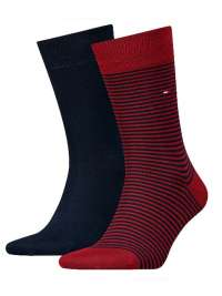 2 Pack Calcetines Tommy a rayas rojo