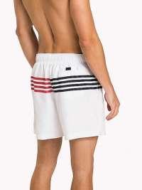 Bañador Tommy Hilfiger Logo Rayas Blanco