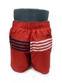 Bañador Hombre Tommy Hilfiger Logo Rayas Rojo