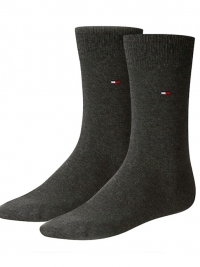 2 Pack Calcetines Tommy en gris antracita