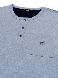 Pijama ZD corto en Hilo de Escocia Azul Claro