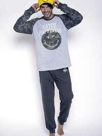 Pijama Hombre Smiley World Camuflaje con puños