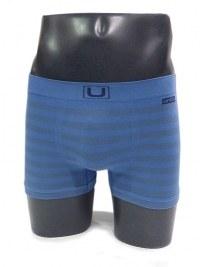 Boxer sin costuras UNCO rayas azul claro