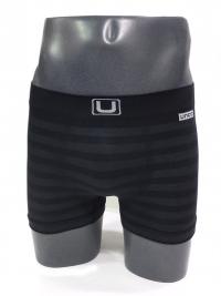 Boxer sin costuras UNCO rayas negro