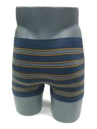Calzoncillo Boxer sin costuras UNCO a rayas azul acero