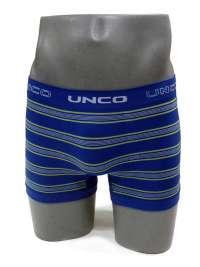 Boxer sin costuras UNCO a rayas azul eléctrico