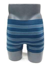 Boxer sin costuras UNCO a rayas azul piedra