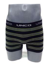 Boxer sin costuras UNCO a rayas en negro