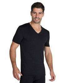 Camiseta Térmica Ysabel Mora pico m/corta negra