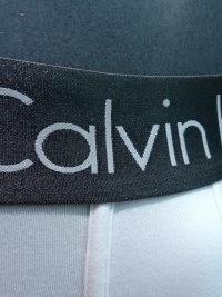 Boxer Calvin Klein Zinc en blanco