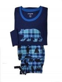 Pijama Little Blue House mod. Blue Plaid Bear