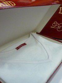 Camiseta interior Land cuello pico en Hilo de Escocia