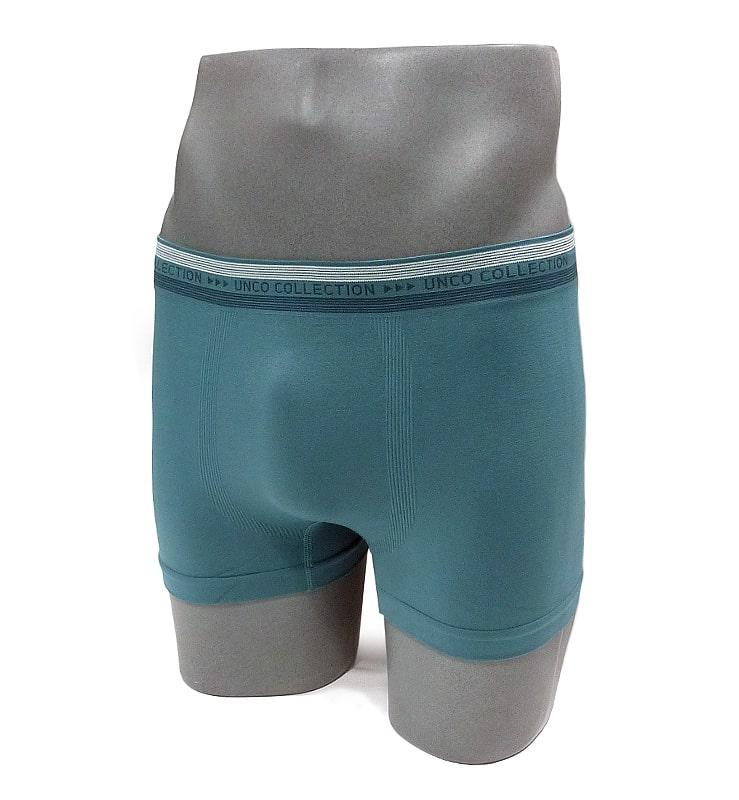 Boxer sin costuras UNCO en azul acero