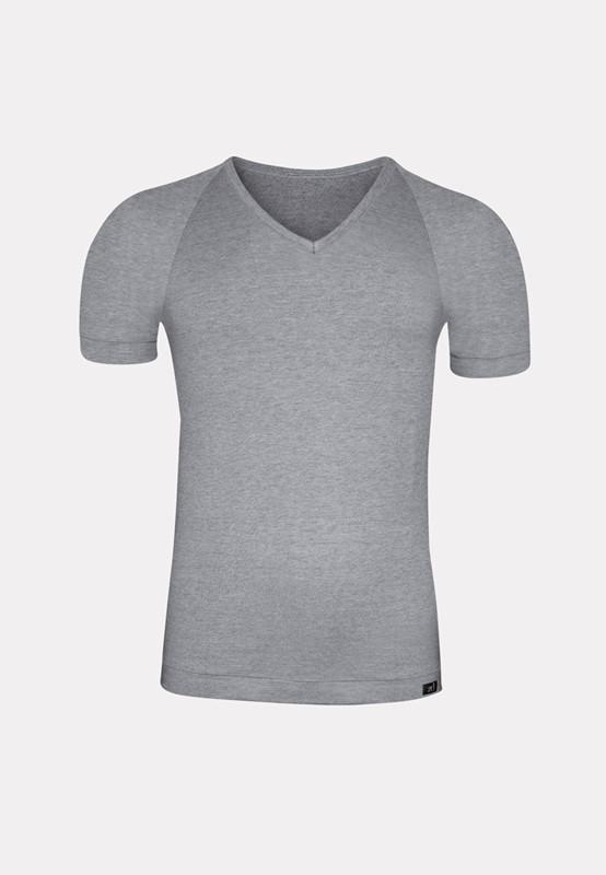 Camiseta ZD Cuello Pico gris