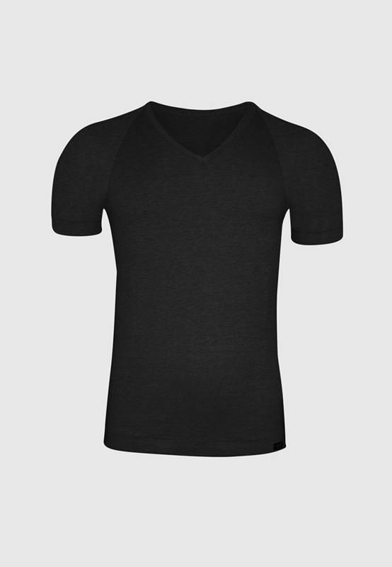 Camiseta ZD Cuello Pico negro